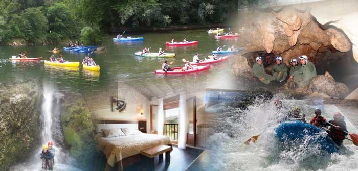 Packs de aventura y alojamiento puente del Pilar en Asturias
