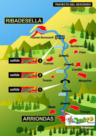 plano del descenso del sella